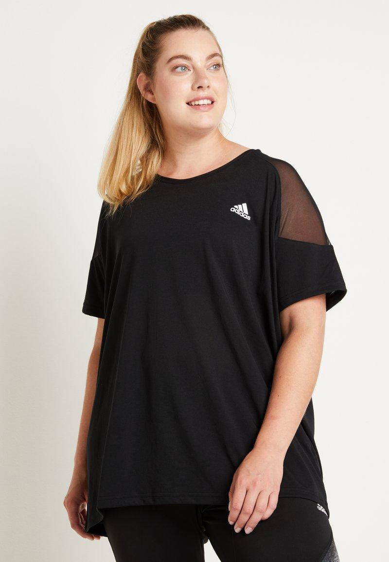 adidas Performance - T-shirts print - black/white