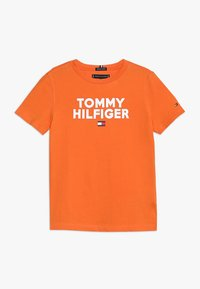 Tommy Hilfiger - LOGO TEE  - Print T-shirt - orange - 0