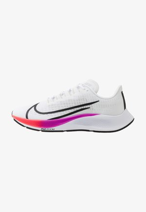 AIR ZOOM PEGASUS 37 - Zapatillas de running neutras - white/flash crimson/hyper violet