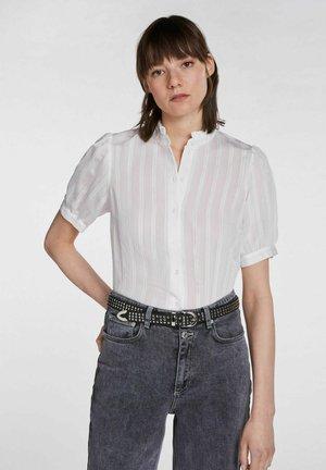 Button-down blouse - cloud dancer