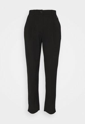 LOGO WAISTBAND CIGARETTE PANT - Trousers - black