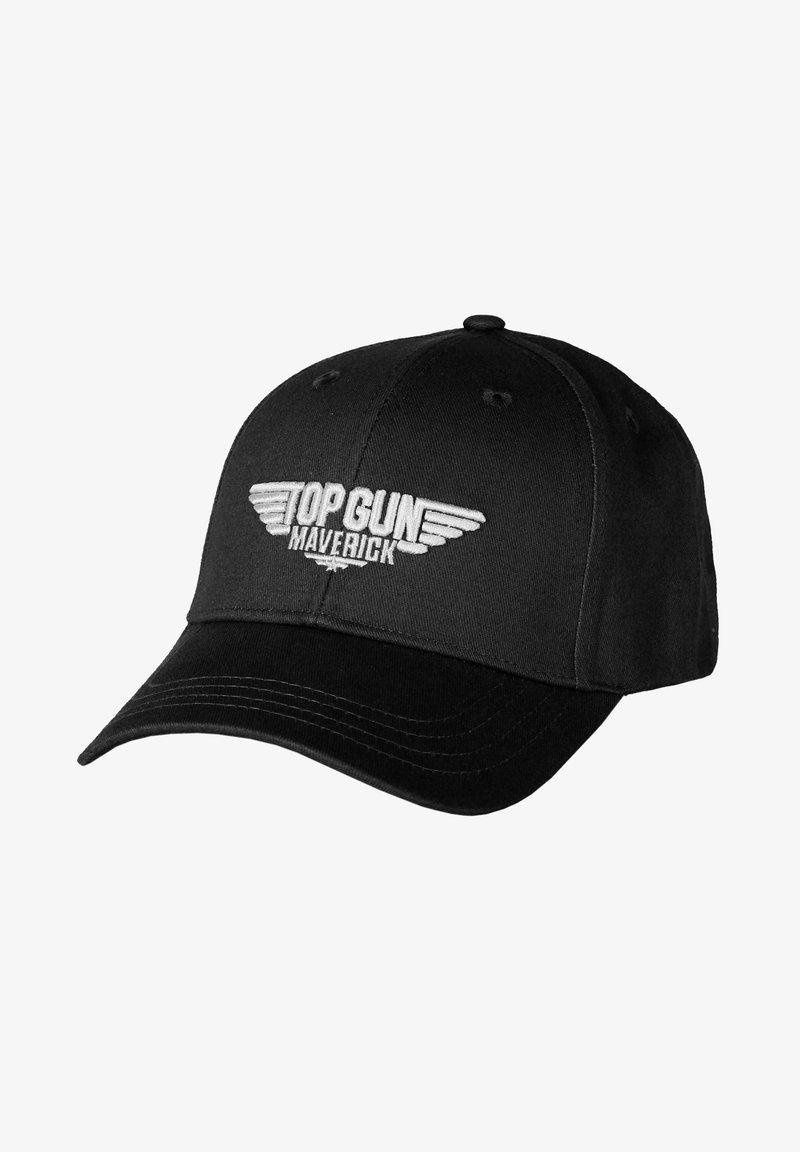 TOP GUN - STICKEREI  - Cap - black