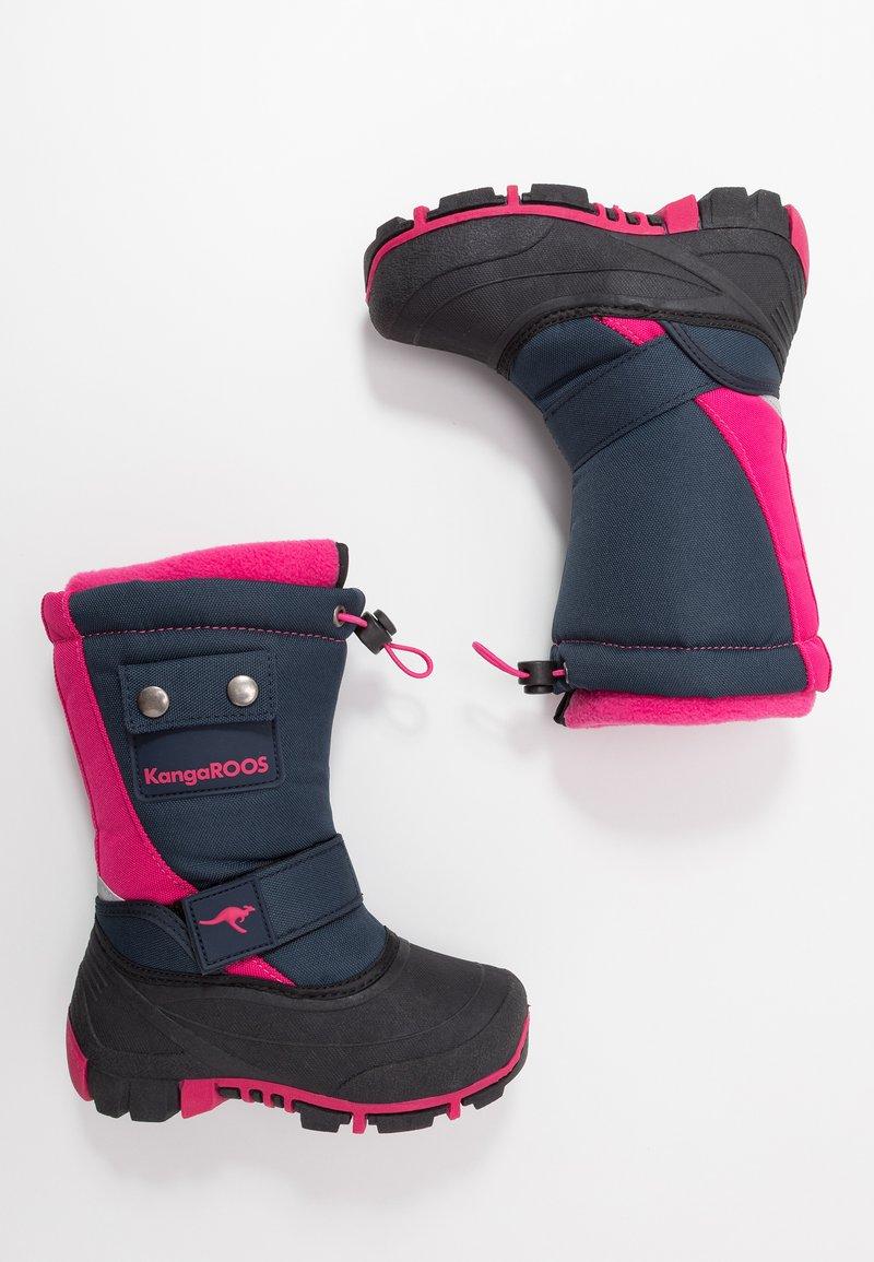 KangaROOS - BEAN II - Winter boots - dark navy/daisy pink