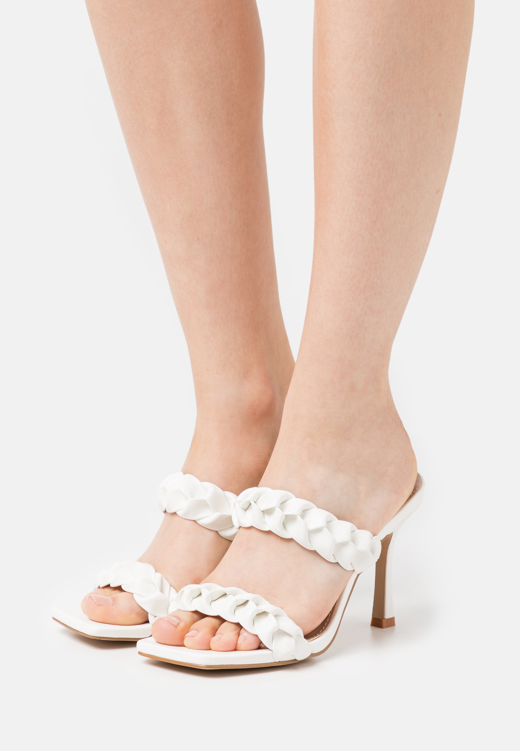 Women GEMMA - Heeled mules - white