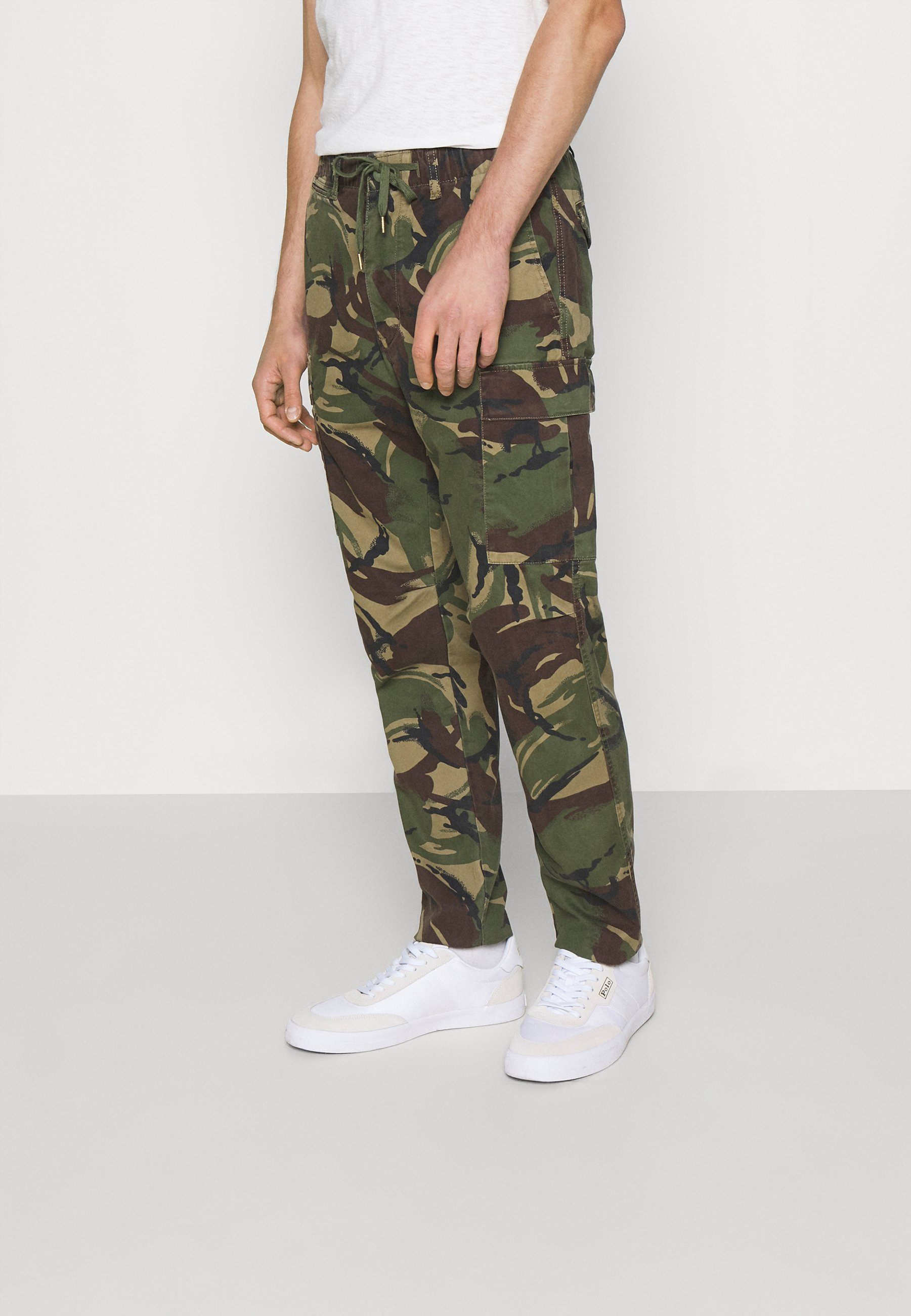 Men STRETCH SLIM FIT TWILL CARGO PANT - Cargo trousers