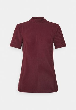 PCKYLIE T NECK - Basic T-shirt - red mahogany cp