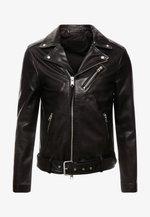 RIGG BIKER - Veste en cuir - black