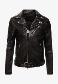 AllSaints - RIGG BIKER - Leather jacket - black - 4
