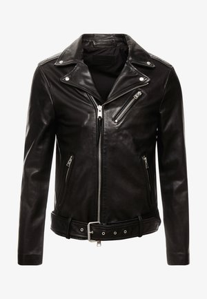 RIGG BIKER - Kožená bunda - black