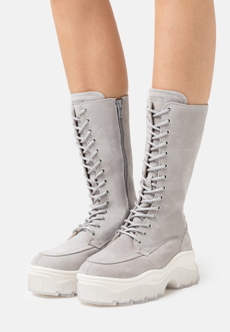 Bronx - JAXSTAR - Platform boots - ice grey