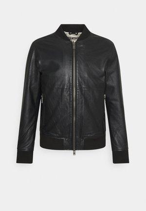 SLHICONIC - Leather jacket - black