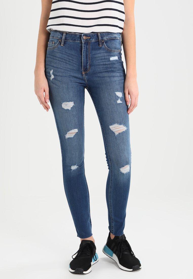 Hollister Co. - STRECH HIGH RISE SUPER SKINNY  - Jeans Skinny Fit - medium wash