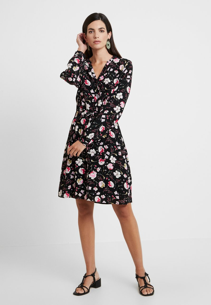 Esprit - PRINT DRESS - Skjortekjole - black