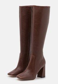 Bianca Di - High heeled boots - choco - 2