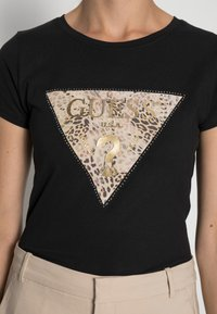 Guess - GHOST LOGO - T-shirt con stampa - jet black - 4