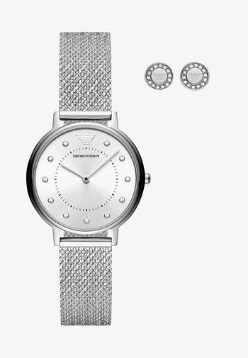 SET - Klocka - silver-coloured