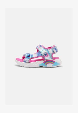 RAINBOW RACER - Sandals - pink/blue