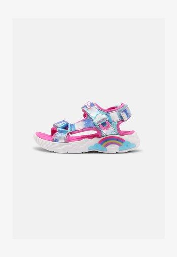 RAINBOW RACER - Sandals - pink/blue