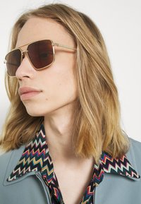Gucci - UNISEX - Sunglasses - gold-coloured/gold-coloured/brown - 1