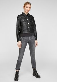 QS by s.Oliver - Faux leather jacket - black - 1