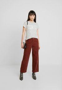 Abercrombie & Fitch - COZY LOGO TEE - Print T-shirt - grey - 1