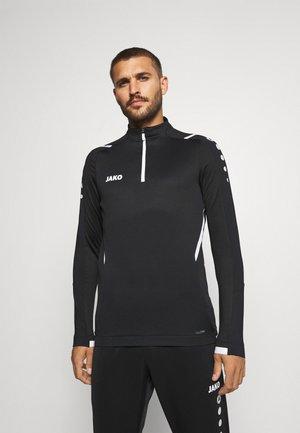 ZIPTOP CHALLENGE - Long sleeved top - schwarz/weiß