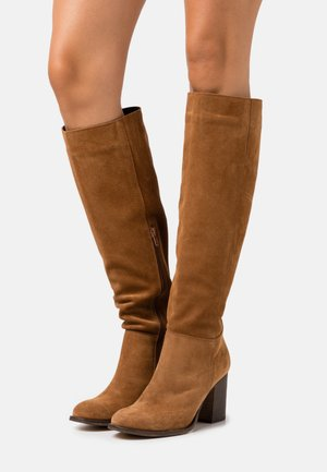LEATHER - Boots - cognac