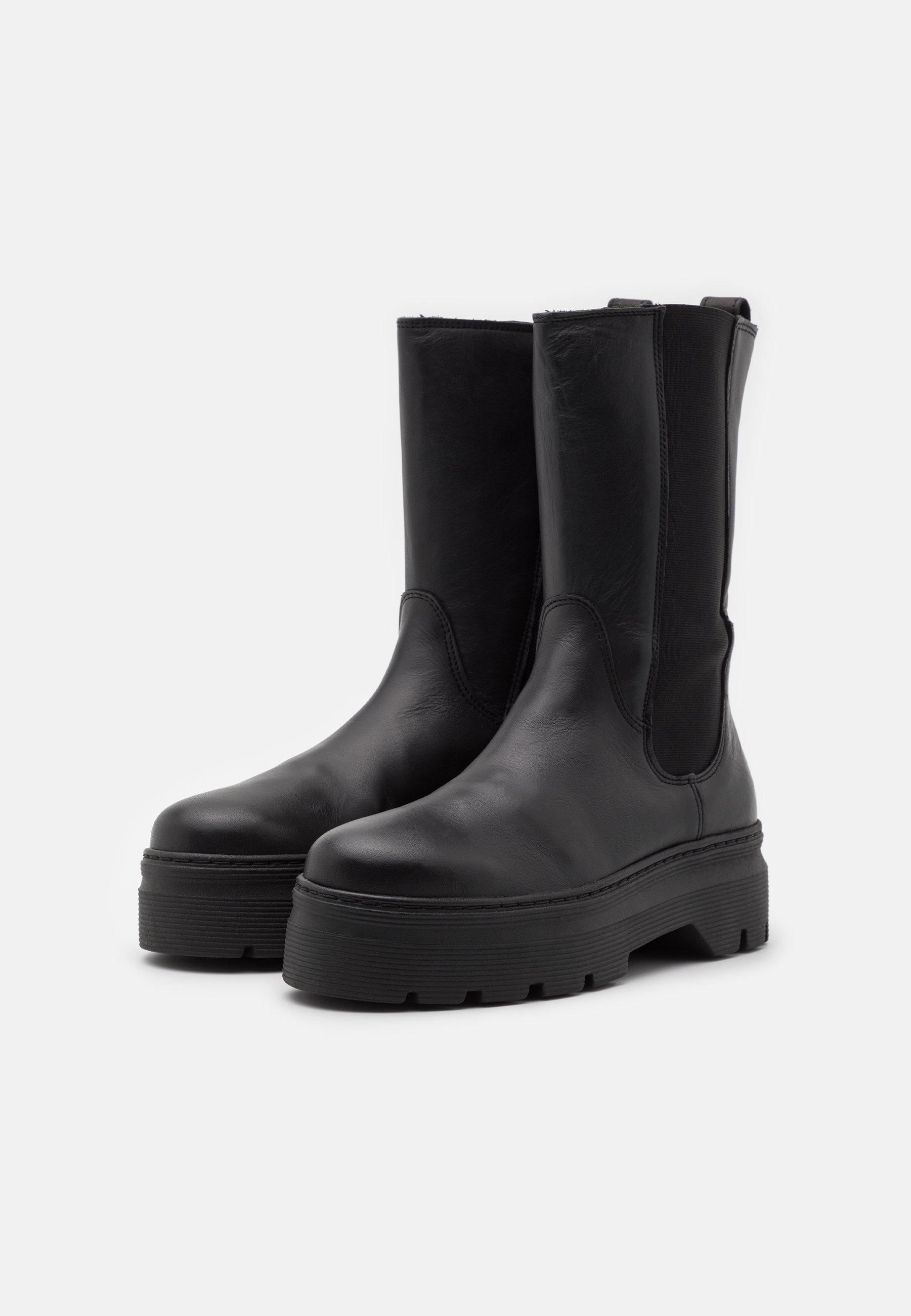 Pavement Aya Zipper - Platåstøvler Black/svart