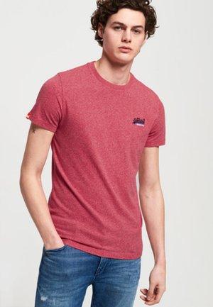 ORANGE LABEL - T-shirt - bas - rot meliert