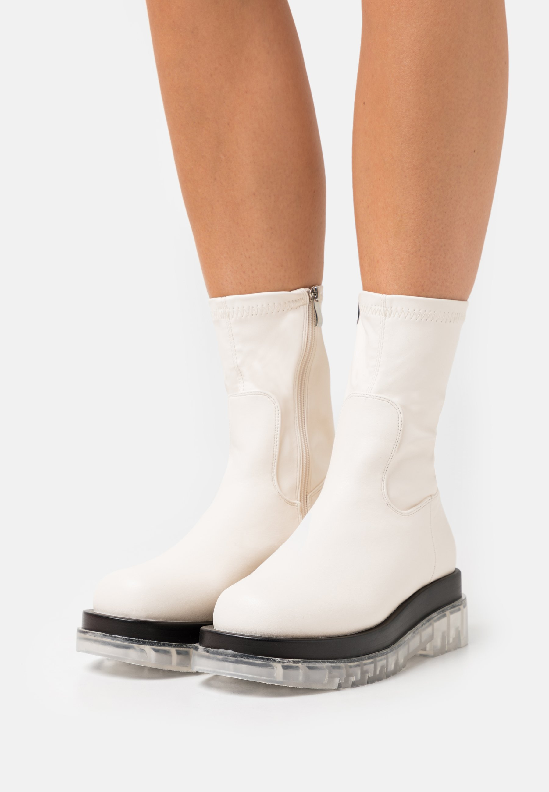Women STORMI - Platform ankle boots - offwhite