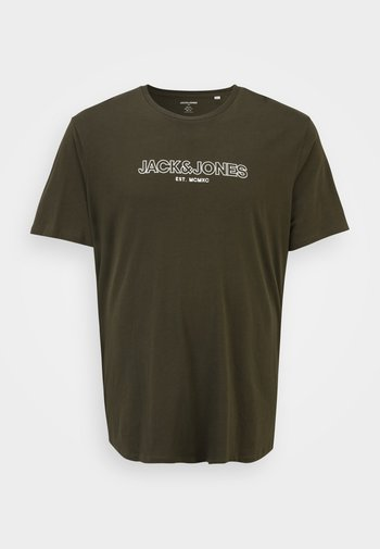 JJBANK TEE CREW NECK  - T-shirt con stampa - forest night