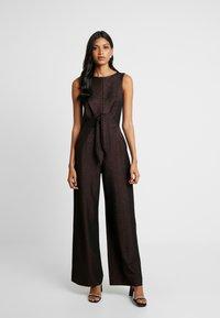 Closet - TIE FRONT - Tuta jumpsuit - rose gold - 0