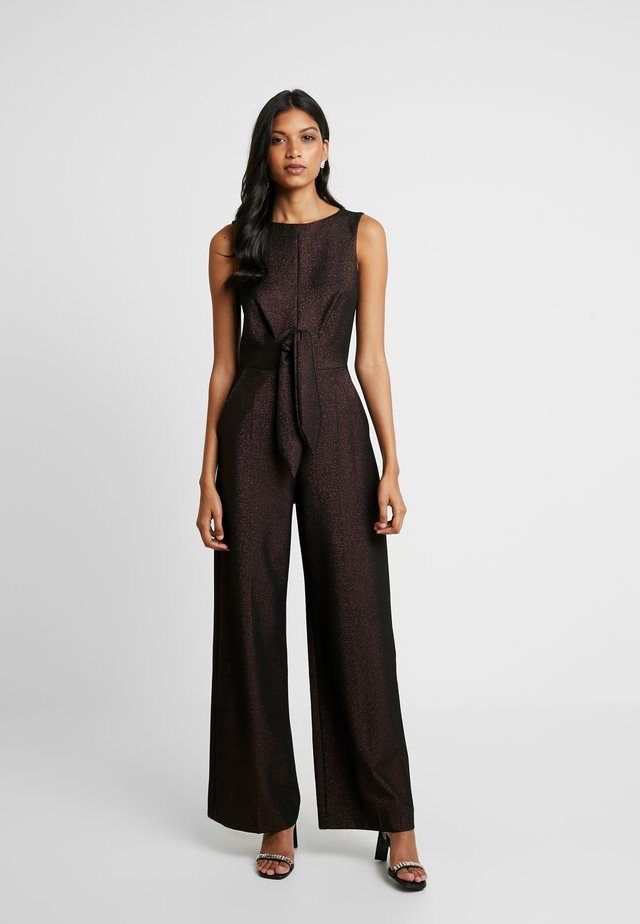 TIE FRONT - Jumpsuit - rose gold