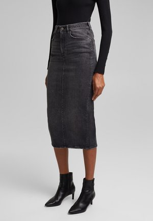 Pencil skirt - black medium washed