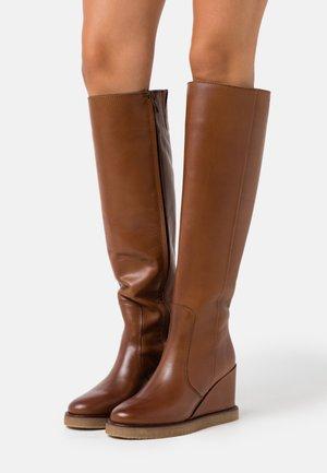 CELINA  - High heeled boots - cognac