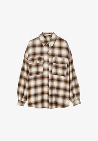 PULL&BEAR - Button-down blouse - mottled brown - 5