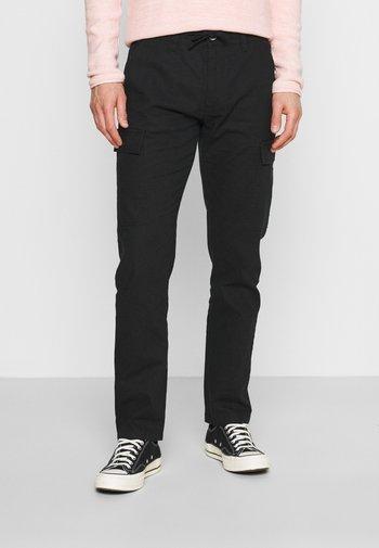LASSO - Pantalon cargo - black