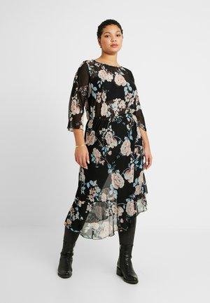 CARMYRA 3/4 CALF DRESS - Jersey dress - black