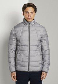 TOM TAILOR DENIM - LIGHTWEIGHT JACKET - Light jacket - dark grey printed melange - 0