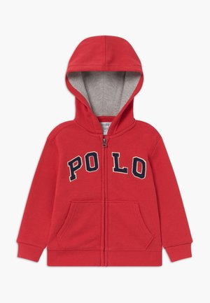 Zip-up hoodie - sunrise red