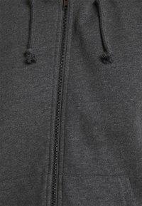 Even&Odd - Oversized Hooded Sweat Jacket - Zip-up hoodie - mottled dark grey - 4