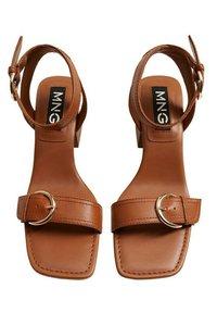 Mango - MORE - Sandals - halvbrun - 4