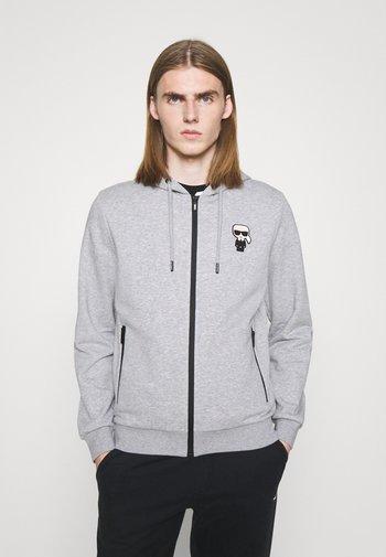 HOODY JACKET - Zip-up sweatshirt - dark grey melange