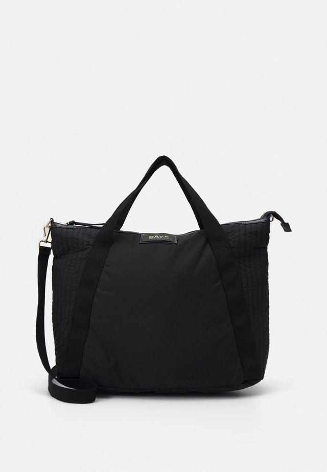 GWENETH PARTIAL CROSS - Tote bag - black