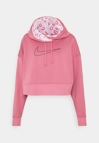Nike Performance - ALL CROP - Jersey con capucha - desert berry/black - 4