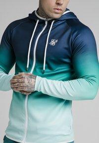 SIKSILK - Zip-up sweatshirt - navy pacific fade - 3
