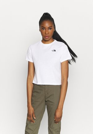 FOUNDATION CROP TEE - T-shirts - white