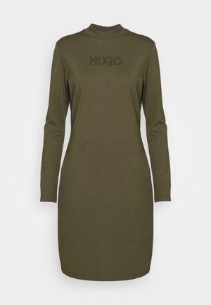 DASSY - Jersey dress - beige/khaki