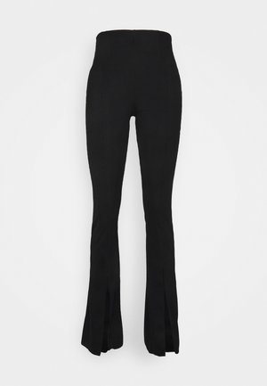 SPLIT FLARE TROUSER - Trousers - black