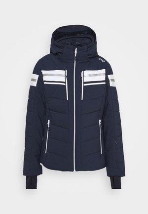 WOMAN JACKET ZIP HOOD - Lyžařská bunda - black blue